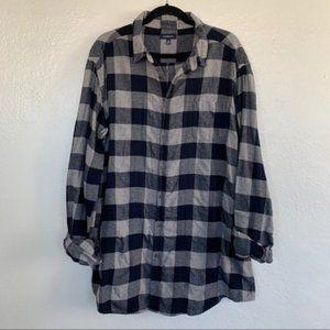 Vintage Feel Worn In Grunge 90's Flannel Shirt